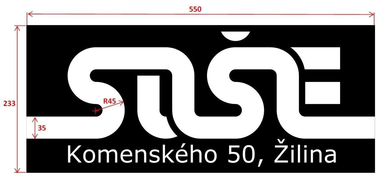Súťažná dráha RoSOŠEbot-u je vytlačená na značkovej plachtovine (liaty  banner) o plošnej hmotnosti 530 g. Tvar súťažnej dráhy je daný jednoduchými  krivkami 363b0baa1c0